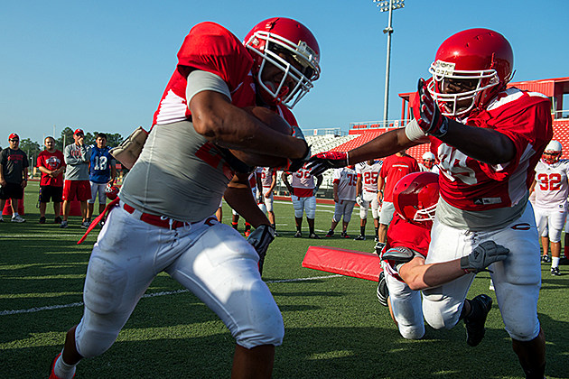 Carthage players compete in blood alley to start friday morning