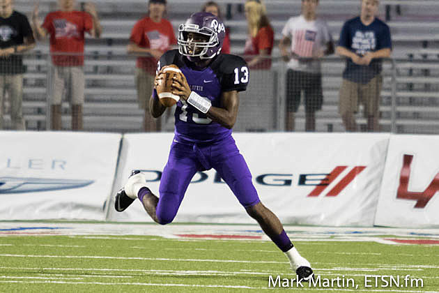 Lufkin quarterback Kordell Rodgers racked up XXX yards Saturday in the Panthers' 38-10 win against Corsicana.