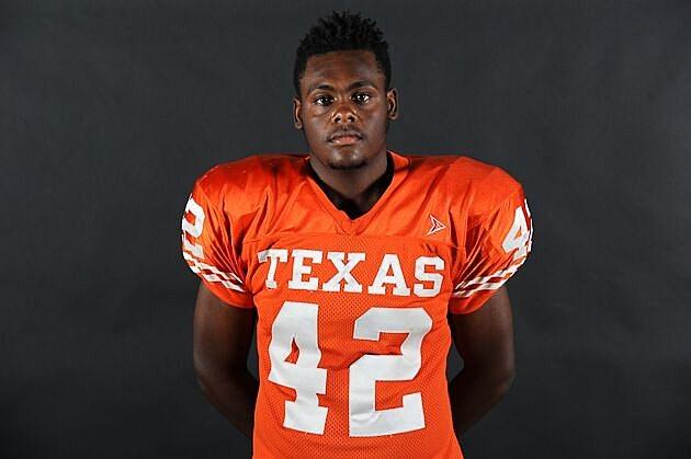 Texas High DL Jacoryon Larry. (Rob Graham, ETSN.fm)