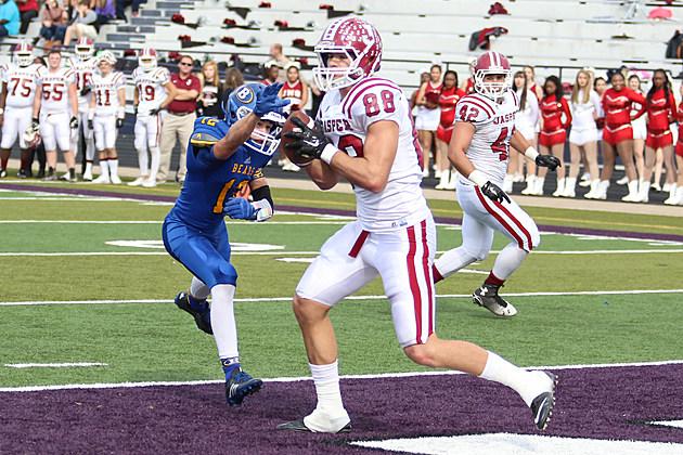 Jasper's Louisiana Tech commit Cody Mitchell, catches a 6-yd touchdown pass.