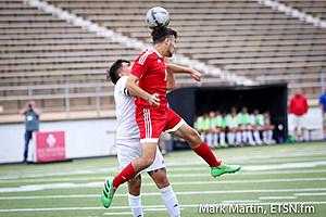 Kilgore Mateo Meraz goes up for a header.