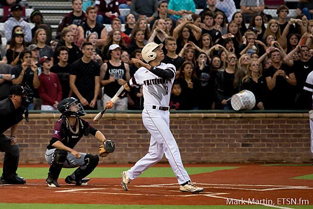 Whitehouse Mason House hits a high pop up, at his first at bat.