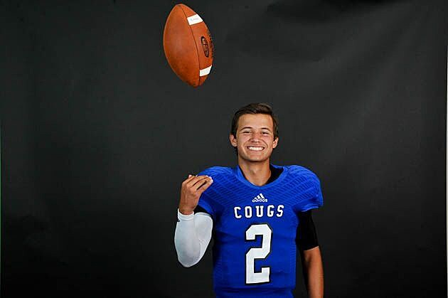 Tyler Grace quarterback Christopher Wilhelmi saw his first action of the season Friday off a preseason injury and threw two touchdown passes in a 49-21 at Trinity Christian. (Rob Graham, ETSN.fm)