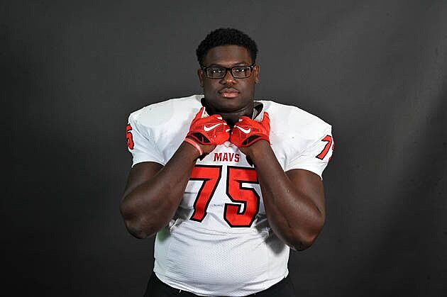 Marshall offensive lineman Chasen Hines committed to LSU on Sunday. (Rob Graham, ETSN.fm)