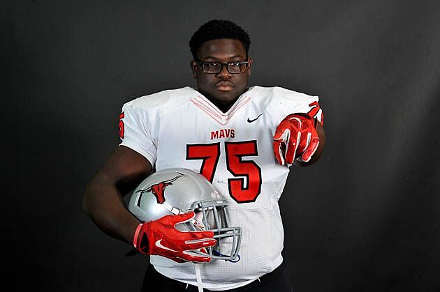 Marshall junior offensive lineman Chasen Hines received an offer from Southern Miss on Thursday. (Rob Graham, ETSN.fm)
