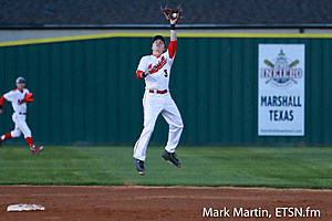 Marshall Hicks goes up high for a out.