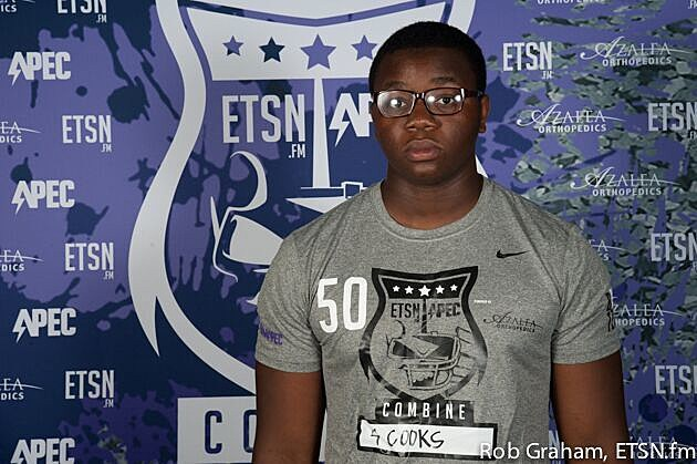 Liberty-Eylau offensive lineman Kylar Cooks committed Saturday to Texas State.