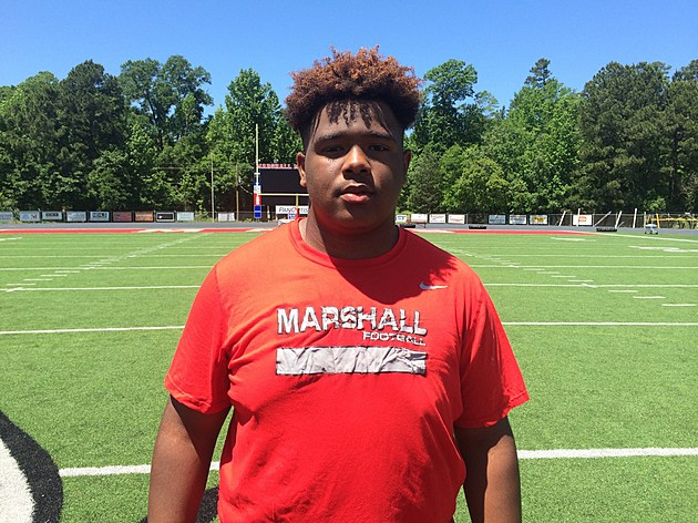 Marshall 2019 offensive lineman Christian Hood received his first Division I FBS offer from Southern Miss on Tuesday. (Justin Wells, Special to ETSN.fm)