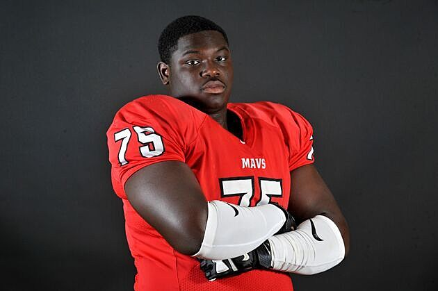 Marshall offensive lineman and LSU commit Chasen Hines was offered by Florida on Tuesday. (© Rob Graham, ETSN.fm)